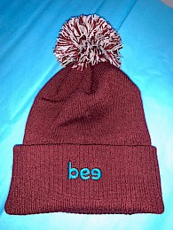 Embroidered Bee Bobble Hat